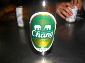 Chang is Thailand's beer and a big one costs about $2 USD